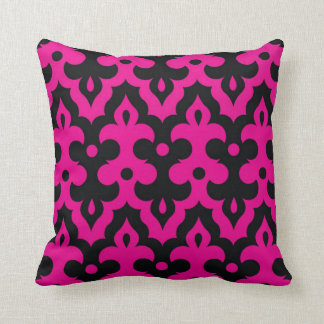 Hot Pink and Black Frieze Pillow
