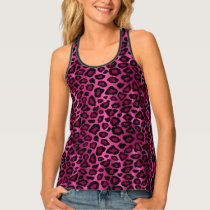 Hot Pink and Black Leopard Print Tank Top