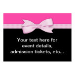 Hot Pink and Black Party Business Card