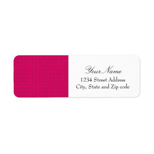 Hot Pink and Black Polka Dot Pattern Labels