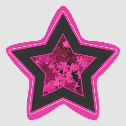 hot pink and black stars