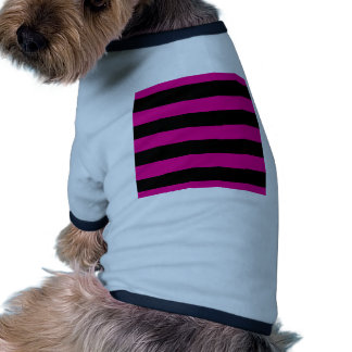 Hot Pink and Black Stripes Pet Tee