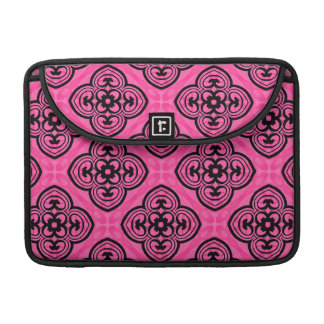 Hot pink and black victorian kaleidoscope decor sleeves for MacBook pro