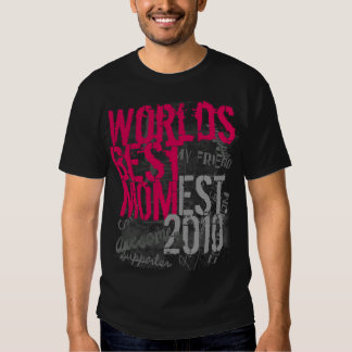 Hot Pink and Black Worlds Best Mom T-Shirt