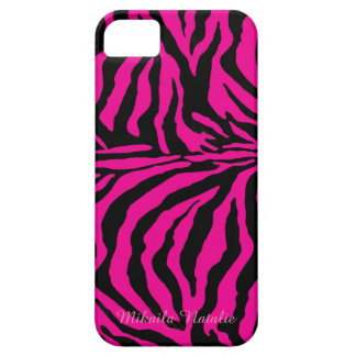 Hot Pink and Black Zebra Print Phone Case