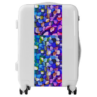 Hot Pink and Blue Pattern Luggage