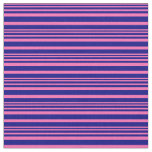 [ Thumbnail: Hot Pink and Blue Stripes Fabric ]