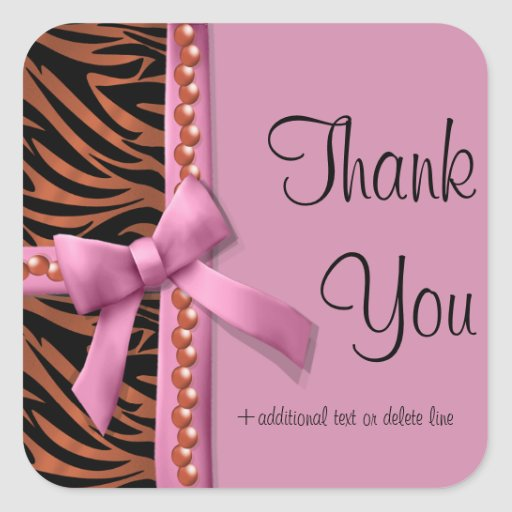 Hot Pink And Bronze Zebra Striped With Pearls Stickers