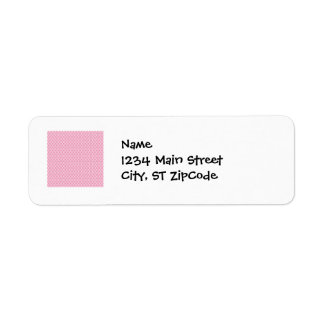 Hot Pink and Bubble Gum Pink Cross Pattern Label