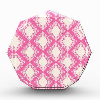 Hot Pink and Cream Damask Pattern Awards