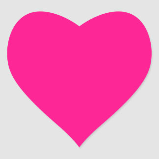 Hot Pink and Customizable Heart Sticker