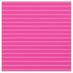 [ Thumbnail: Hot Pink and Deep Pink Colored Lines Fabric ]