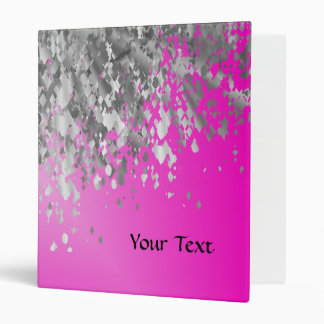 Hot pink and faux glitter binder