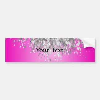 Hot pink and faux glitter bumper sticker