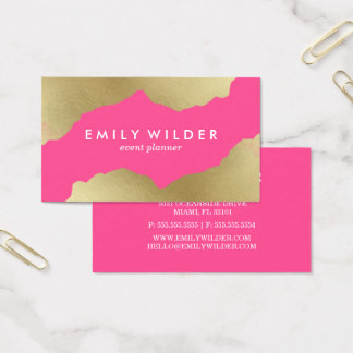 Hot Pink and Gold Dipped | Business Card