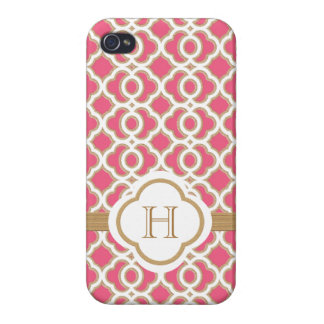 Hot Pink and Gold Moroccan iPhone 4 Covers