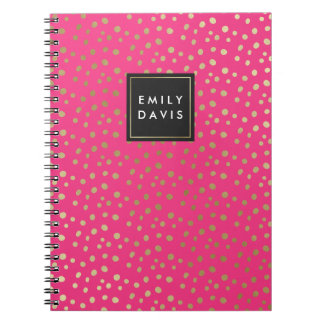 Hot Pink and Gold Spots | Notebook