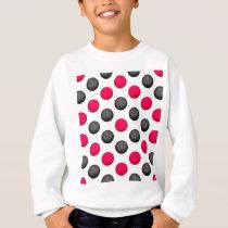 Hot Pink and Gray Basketball Pattern Sweatshirt