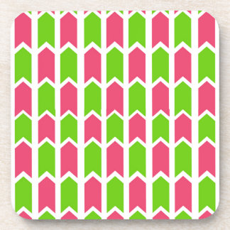 Hot Pink and Green Fence Panel Coaster