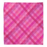 Hot pink and lavender plaid bandana