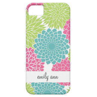 Hot Pink and Lime Green Flowers iPhone 5 Cover