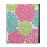 Hot Pink and Lime Green Flowers Pattern iPad Folio Cases