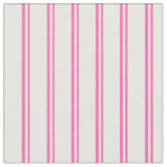 [ Thumbnail: Hot Pink and Mint Cream Stripes/Lines Pattern Fabric ]