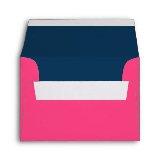 Hot Pink and Navy Blue Wedding A2 Envelopes