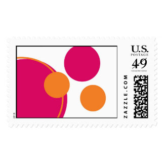 Hot Pink and Orange Circles Stamps