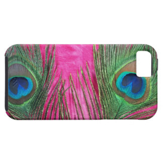 Hot Pink and Peacock Feathers iPhone 5 Covers