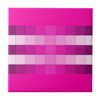 Hot Pink and Pink Design Tile 1