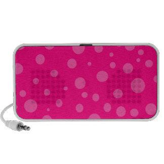 Hot Pink and Pink Polka Dots Doodle Speaker