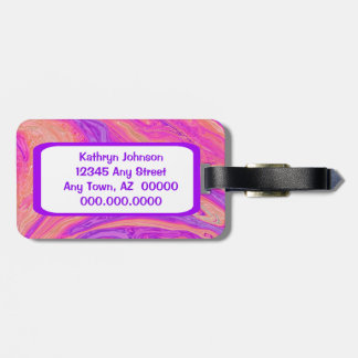 Hot Pink and Purple Abstract Bag Tags