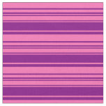 [ Thumbnail: Hot Pink and Purple Colored Striped/Lined Pattern Fabric ]