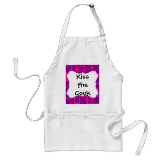 Hot Pink and Purple Fun Circle Square Pattern Aprons