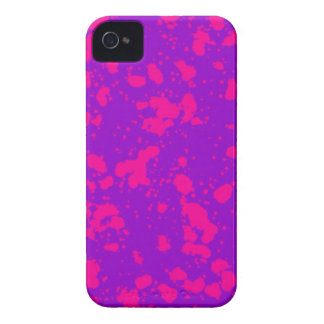 Hot Pink and Purple Paint Splatters iPhone 4 Case