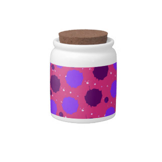 Hot Pink and Purple Splash Dots Candy Jar