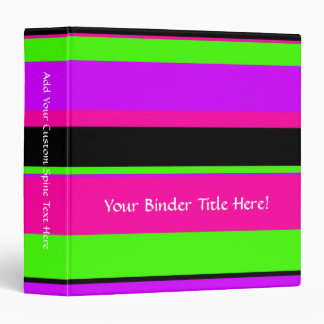 Hot Pink and Purple Tonal Stripes Modern Design Binder