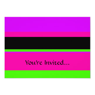 Hot Pink and Purple Tonal Stripes Modern Design Card