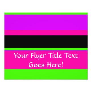 Hot Pink and Purple Tonal Stripes Modern Design Flyer