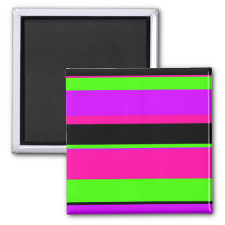 Hot Pink and Purple Tonal Stripes Modern Design Magnet