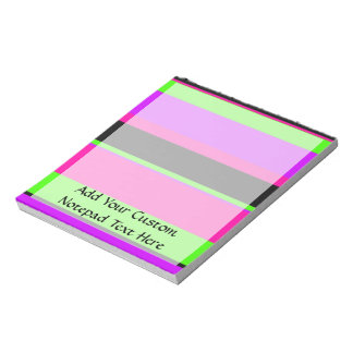 Hot Pink and Purple Tonal Stripes Modern Design Note Pad