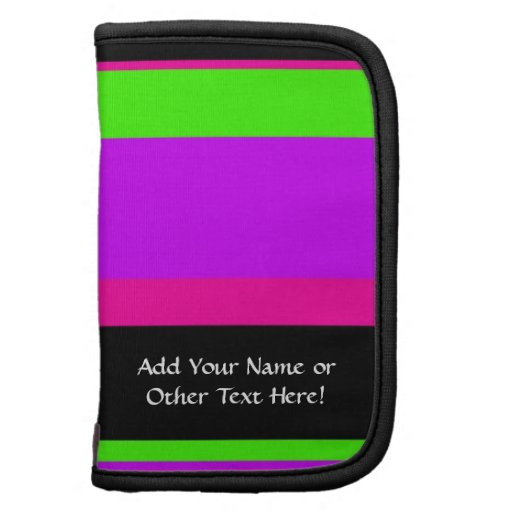 Hot Pink and Purple Tonal Stripes Modern Design Organizers