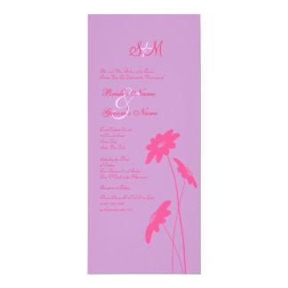 Hot Pink and Purple Wildflowers Wedding Invitation