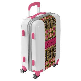 Hot Pink and Red Jewels Luggage