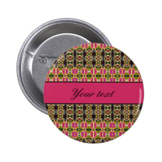 Hot Pink and Red Jewels Pinback Button