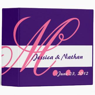 HOT PINK and ROYAL PURPLE Wedding Photo Planner Binder