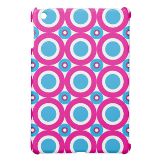 Hot Pink and Teal Polka Dots Pattern Cover For The iPad Mini