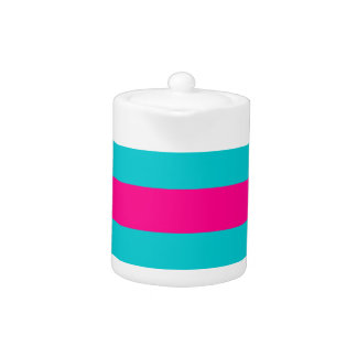 Hot Pink and Teal Stripes