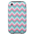 hot pink and torquoise blue iPhone 3 tough cover